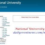 National university result