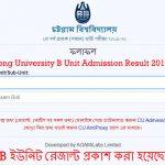 Chittagong University BUnit Admission Result 2019-2020!