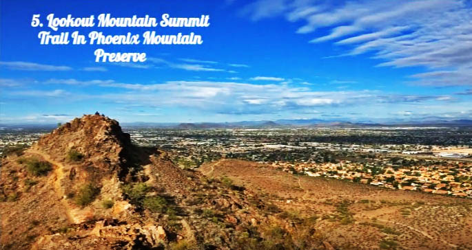 lookout mountain summit trail the phoenix mountain preserve