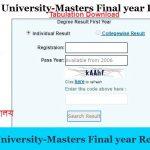 National University-Masters Final year Result 2019(জাতীয় বিশ্ববিদ্যালয় ফলাফল)