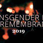 Transgender Day of Remembrance – 20th November Transgcender Day of Remembrance 2020