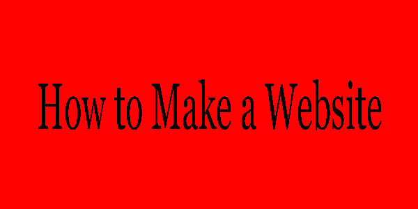 How to Make a Website -simple and Easy system.