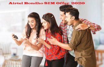 Airtel Bondho SIM Offer 2021, 1 GB + 40 minutes 34 Tk.