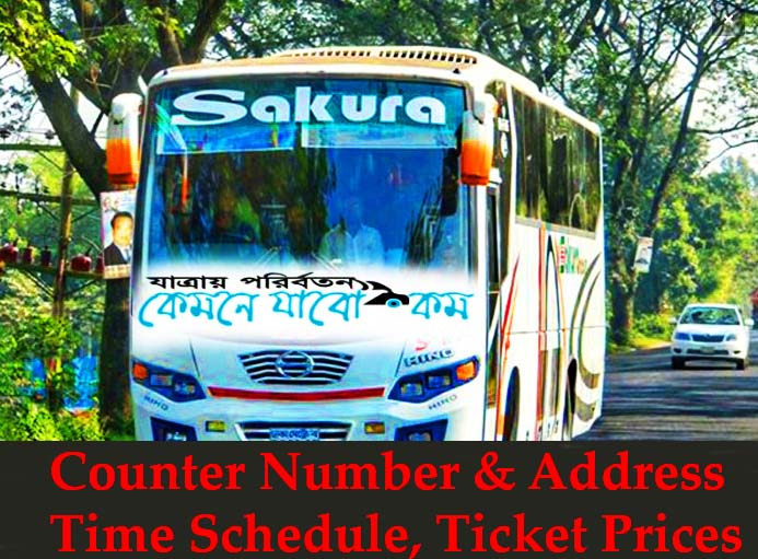 Sakura Paribahan Counter Number & Address, Time Schedule, Ticket Prices: