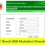 SSC Result 2020 Marksheet Download | All Board