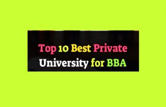 Top 10 Best Private University for BBA in Bangladesh 2021