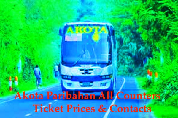 Akota Paribahan All Counters, Ticket Prices & Contacts