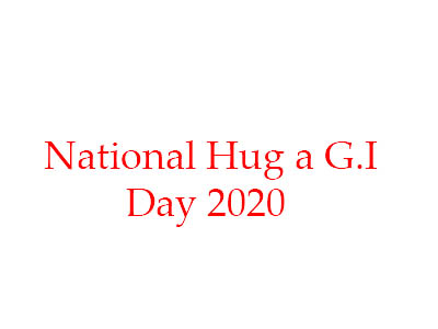 National Hug a G.I. Day – 4th March National Hug a G.I. Day 2020