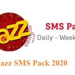 Jazz SMS Pack 2020 – Jazz 500 SMS Rs.15