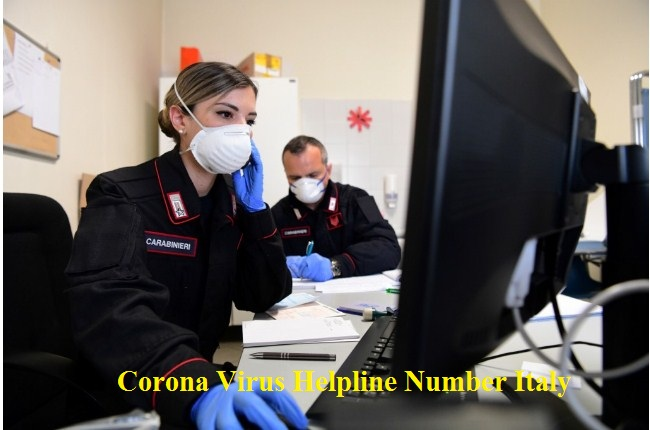 Corona Virus Helpline Number Italy