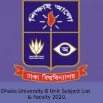 Dhaka University B Unit Subject List & Faculty 2020