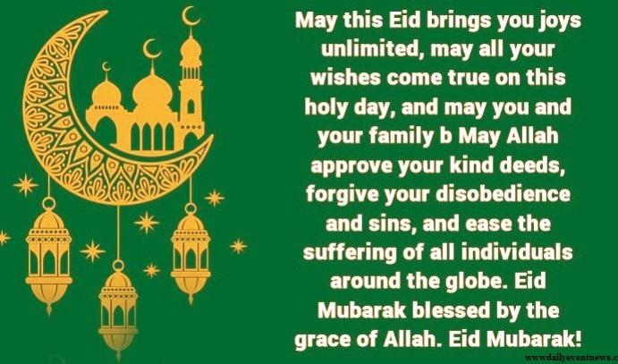 Advance Eid Mubarak Wishes 2020