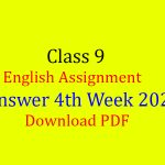 Class 9 English Assignment Answer 4th Week 2020-Download PDF