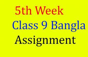 Assignment Class 9 5th week Bangla , Class 9 Assignment Bangla and Class 9 Assignment Bangla 5th week.
