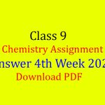 4th week Chemistry assignment For class 9