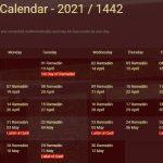 Ramadan Calendar 2021- Sehri & Iftar Time Bangladesh 2021