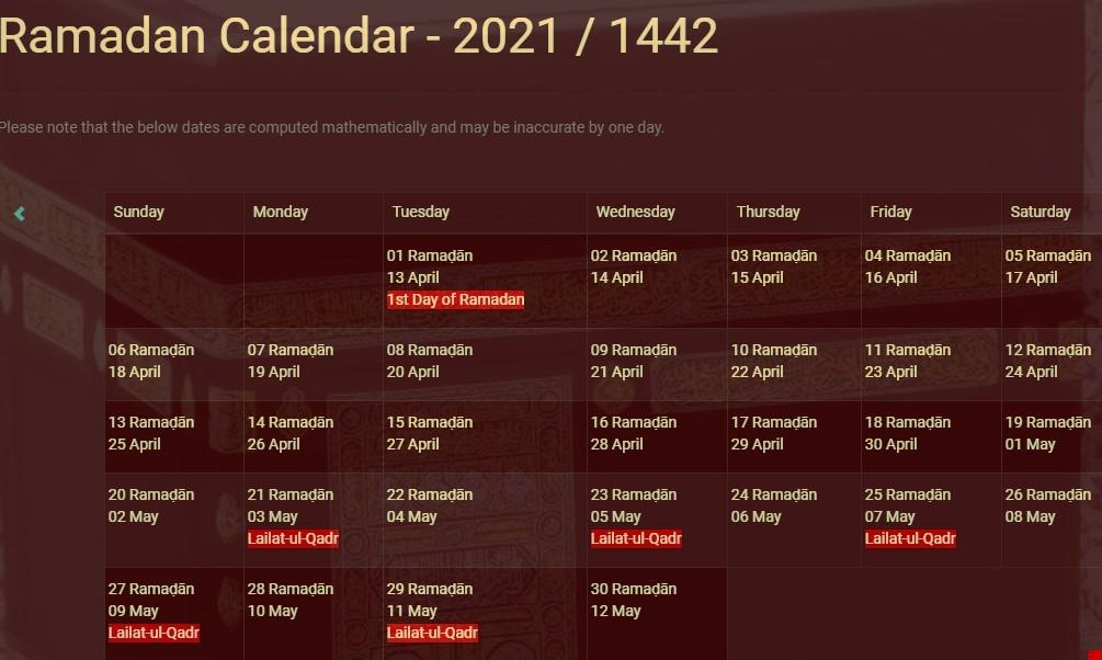 Rmadan calendar 2021